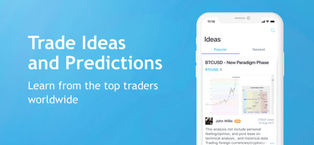 TradingView App for iPhone - Trade Ideas and Predictions